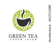 green tea logo. tea shop. tea... | Shutterstock .eps vector #661511080