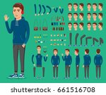 creation set of handsome young... | Shutterstock .eps vector #661516708