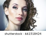 face of a beautiful girl close... | Shutterstock . vector #661518424