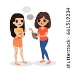 just chat | Shutterstock .eps vector #661519234