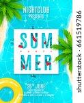 blue summer party flyer.... | Shutterstock .eps vector #661519786