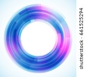 geometric frame from circles ... | Shutterstock .eps vector #661525294