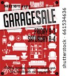 garage or yard sale with signs  ... | Shutterstock .eps vector #661534636
