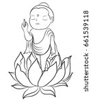Hand Drawn Baby Buddha Born...