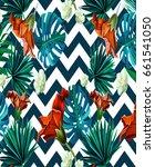 zigzag tropical pattern fashion ... | Shutterstock . vector #661541050