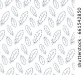 hand drawn feathers seamless... | Shutterstock .eps vector #661542850