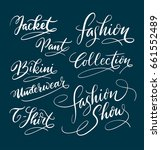 fashion and collection hand... | Shutterstock .eps vector #661552489