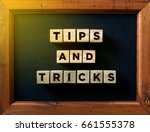 tips and trick word written in... | Shutterstock . vector #661555378