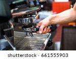 barista coffee select focus | Shutterstock . vector #661555903