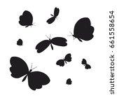 silhouette beautiful... | Shutterstock .eps vector #661558654