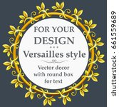 a round gold  frame in vintage... | Shutterstock .eps vector #661559689