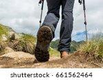 closeup of hiking boots. | Shutterstock . vector #661562464