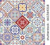 seamless ceramic tile with...   Shutterstock .eps vector #661564318