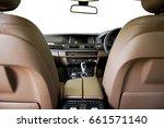 brown leather seat  steering... | Shutterstock . vector #661571140
