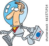 cartoon space business man | Shutterstock .eps vector #661571914