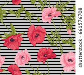 seamless pattern with pink and... | Shutterstock .eps vector #661576708