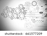 modern technology for business... | Shutterstock . vector #661577209