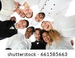 low angle view of happy... | Shutterstock . vector #661585663