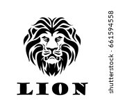 lion head. logotype of vector... | Shutterstock .eps vector #661594558