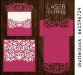 die laser cut wedding card...   Shutterstock .eps vector #661596724