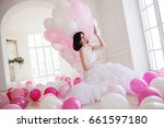 Young Woman In Wedding Dress I...