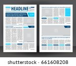 vector empty newspaper print... | Shutterstock .eps vector #661608208