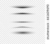 a sheet of paper a drop shadow... | Shutterstock .eps vector #661609690