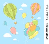 vector abstract illustration of ... | Shutterstock .eps vector #661617418