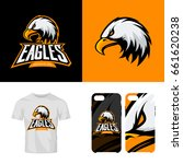 eagle head sport club isolated... | Shutterstock .eps vector #661620238