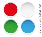 set of empty round stickers | Shutterstock .eps vector #661621843