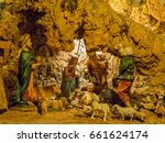 Small photo of DEIR EL QAMAR, LEBANON - MAY 20, 2017 - Nativity representation in the interiors of the Moussa Castle, built single-handedly in 60 years by Moussa Abdel Karim Al-Maamari, a Lebanese visionary.