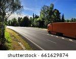 truck transportation | Shutterstock . vector #661629874