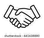 business handshake   contract... | Shutterstock .eps vector #661638880