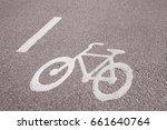 bike lane symbol  stockholm ... | Shutterstock . vector #661640764
