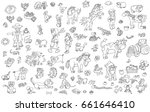 colorful drawing illustrations  ... | Shutterstock . vector #661646410
