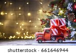 rustic holiday background with... | Shutterstock . vector #661646944
