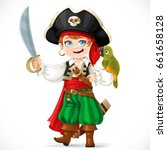 Cute Boy Dressed As Pirate Wit...
