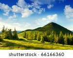 Summer Landscape In Mountains...