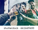 craft beer booze brew alcohol... | Shutterstock . vector #661669600