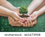stem education concept with... | Shutterstock . vector #661673908