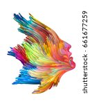 color thinking series. female... | Shutterstock . vector #661677259