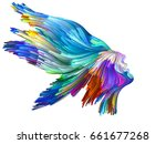 color thinking series. female... | Shutterstock . vector #661677268