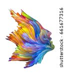color thinking series. female... | Shutterstock . vector #661677316