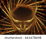 radiating mind series. 3d... | Shutterstock . vector #661678648