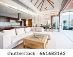 luxury interior design in... | Shutterstock . vector #661683163