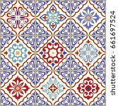 seamless ceramic tile with...   Shutterstock .eps vector #661697524