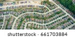 aerial view of houses in... | Shutterstock . vector #661703884