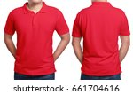 Red Polo T Shirt Mock Up  Front ...