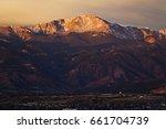 pike's peak at sunrise   purple ... | Shutterstock . vector #661704739