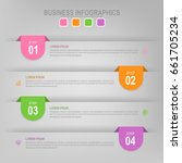 infographic template of four... | Shutterstock .eps vector #661705234